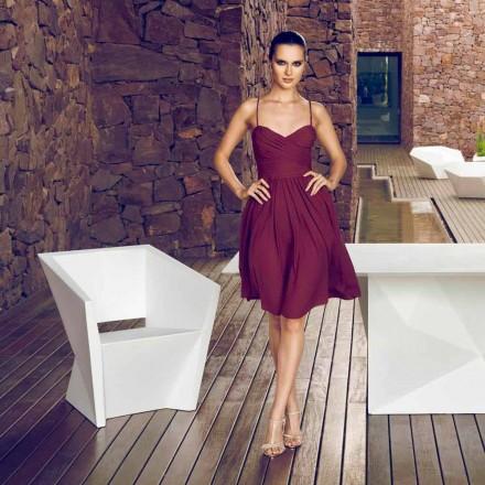 Vondom Faz vitlackad trädgårdstol med modern design