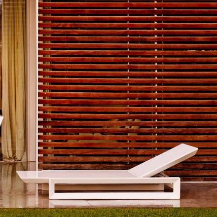 Vondom Frame design trädgårdssäng i vit polyeten
