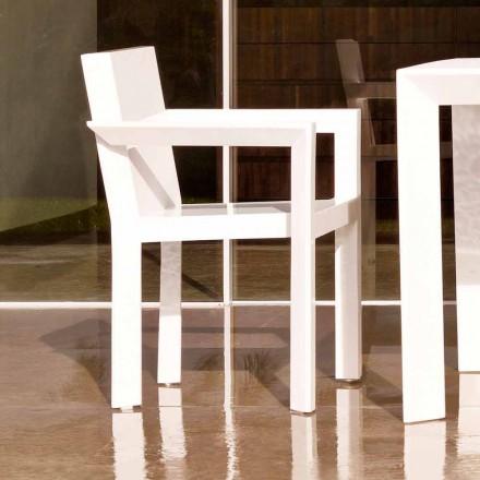 Vondom Frame trädgårdsstol med armstöd i polyetenharts