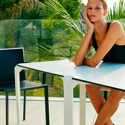 Vondom kvarts kvadratisk trädgård bord, modern design