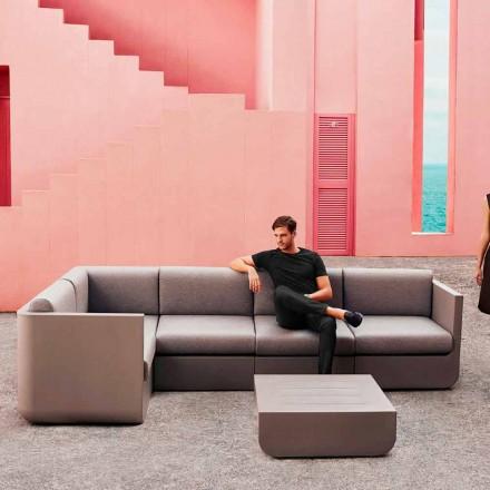 Vondom Ulm sammansättning Taupe Design Garden Lounge