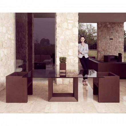 Vondom Vela modern design trädgård fåtölj, brons finish