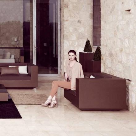 Vondom Vela moderna trädstol i bronslackerad polyeten