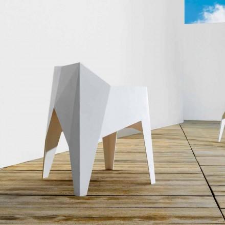 Vondom Voxel modern trädgårdsstol färgad i polyeten