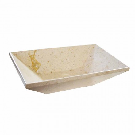 Wok bänkskål i design marmor, trapezformad form